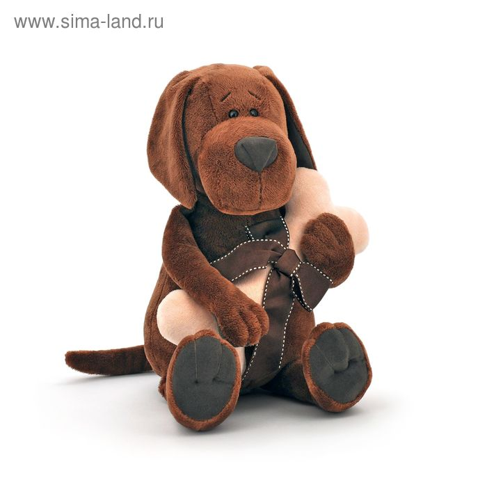 Мягкая игрушка «Пёс Барбоська с косточкой»