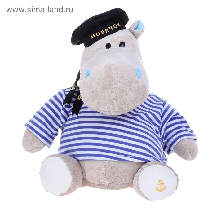 Мягкая игрушка «Бегемот Морячок»