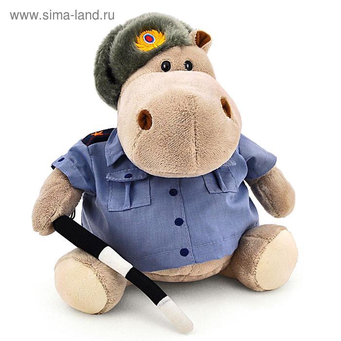 """Мягкая игрушка """"Бегемот Полицейский"""""""