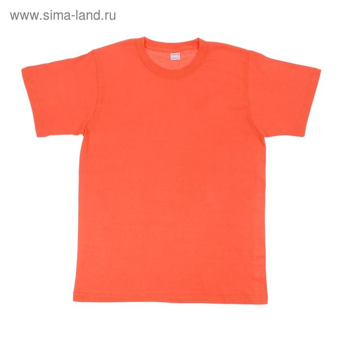 Футболка мужская Collorista, размер XXL (52), цвет оранжевый