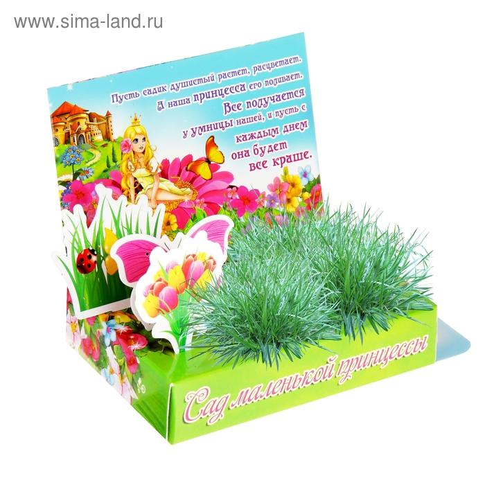 """Открытка-растущая трава """"Сад маленькой принцессы"""""""