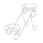 """Подставка для цветов """"Фиалка-2"""", белое серебро d=15,5 см"""