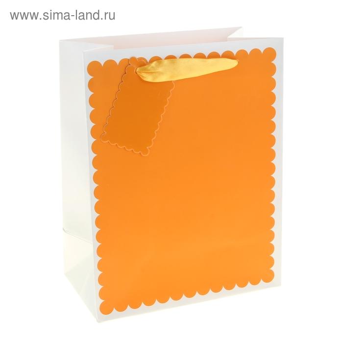 """Пакет ламинированный """"Ажур"""", цвет оранжевый"""