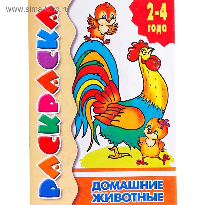 """Раскраска 2-4 года Посмотри и раскрась """"Домашние животные"""""""