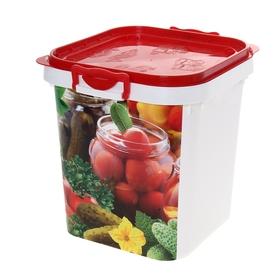 Контейнер пищевой 25 л, цвет красный