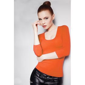 Джемпер женский бесшовный ARTG MAGLIA SCOLLO MADONNA MANICA 3/4 (orange, L/XL)