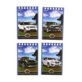 Блокнот А7, 40 листов на гребне 'Автопрогулка', 4 вида МИКС Ош