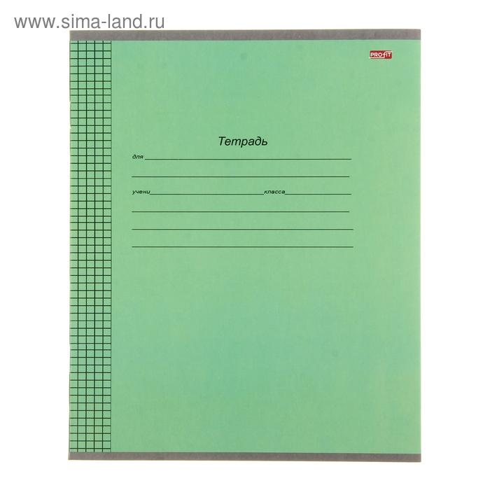 """Тетрадь 12 листов клетка """"Стандартная зелёная"""", картонная обложка"""