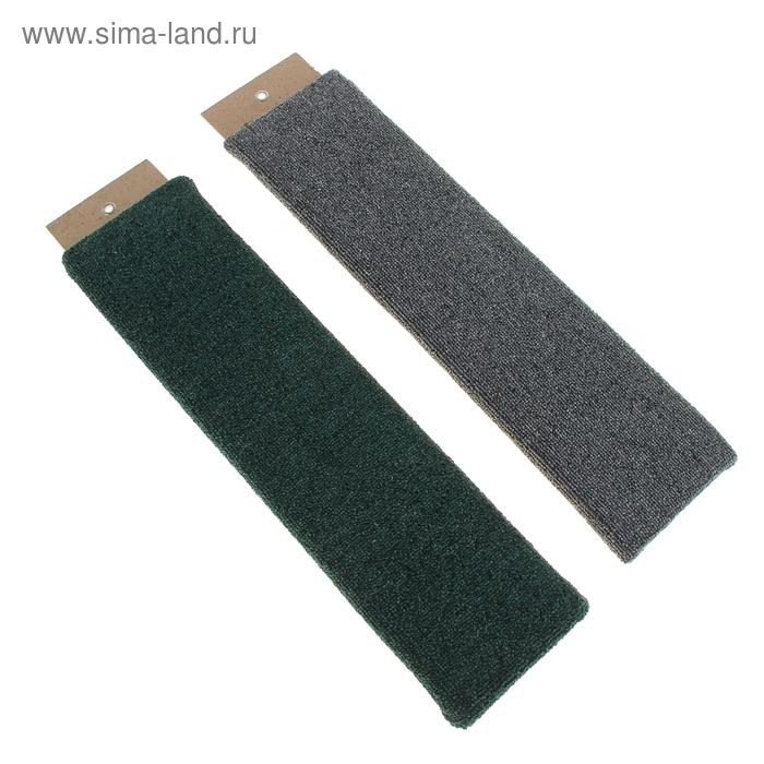 Когтеточка плоская, ковролин, 60 Х 12,5 см, микс