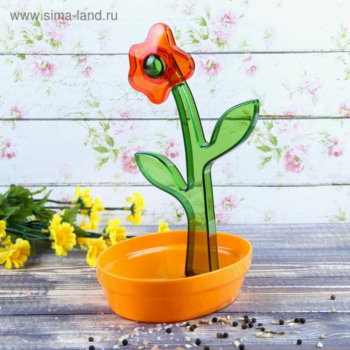 """Подставка для ложки """"Цветок"""", цвет оранжевый"""