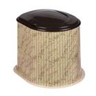 Туалет дачный, h=39 см, без дна, с креплением к полу, «Плетёнка»