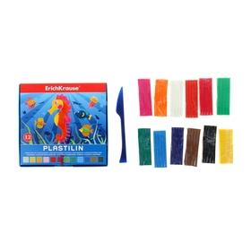 Пластилин 12 цветов 216гр, со стеком, в коробке, EK 36901
