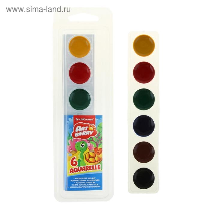 Акварель медовая 6 цветов Artberry, мягкий пластик, EK 36991