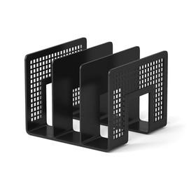 Лоток для бумаг вертикальный 3 отделения черный, EK 8070