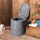 Туалет дачный, h=39 см, без дна, с креплением к полу, «Люкс»
