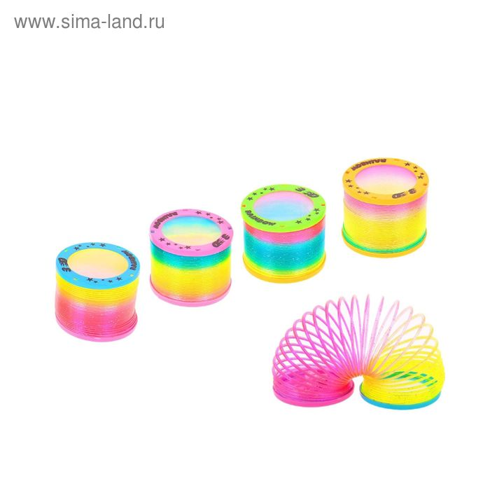 "Пружинка-радуга ""3D"", с подсветкой, цвета МИКС"