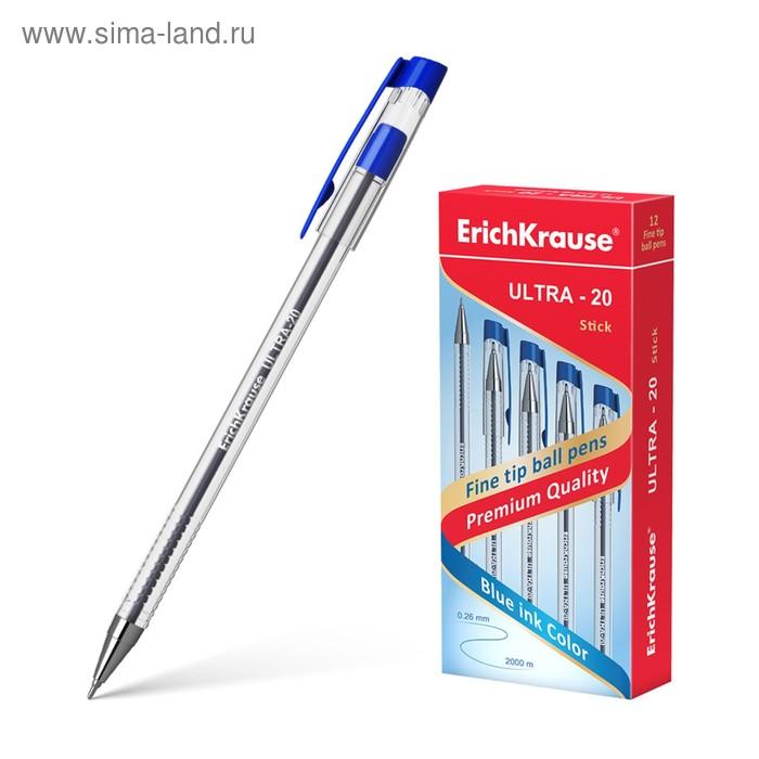 Ручка шариковая Erich Krause ULTRA L-20 стержень синий, узел 0.7мм, EK 13875