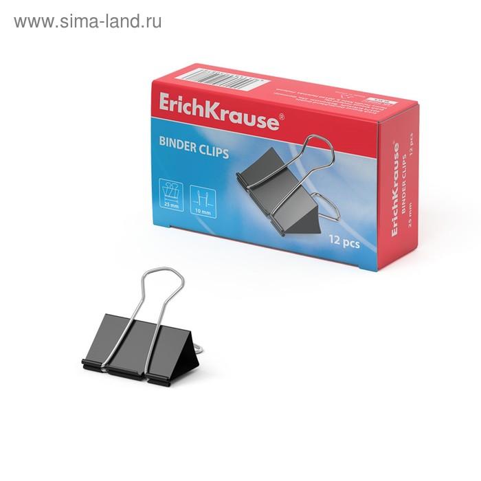 Набор зажимов для бумаг 25 мм (12 шт.), черный, EK 25087