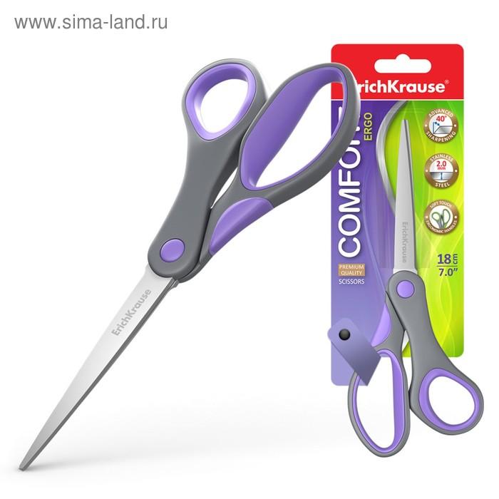 Ножницы Comfort 18см, МИКС, EK 35110