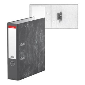 Папка-регистратор А4, 70мм Economy, мраморный, разборный, серый