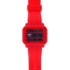 Часы наручные мужские электронные с подсветкой на силиконовом ремешке, цвет красный