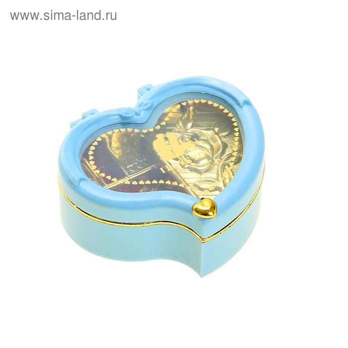 "Шкатулка музыкальная ""Сердце завитком"", микс"
