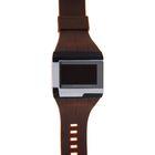 Часы наручные мужские электронные прямоугольные, силиконовый браслет