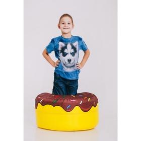Футболка детская Collorista 3D Husky, возраст 2-4 года, рост 92-110 см, цвет синий