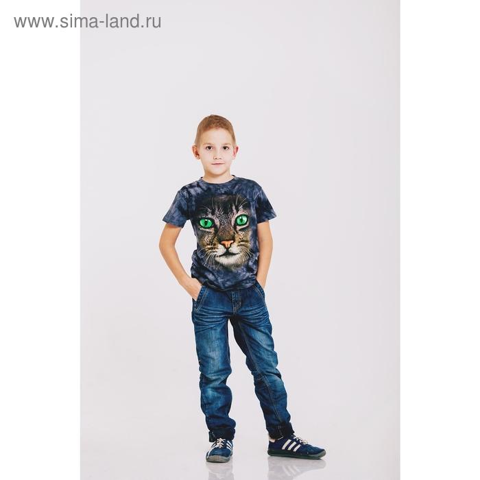 Футболка детская Collorista 3D Cat, возраст 6-8 лет, рост 122-134 см, цвет серый