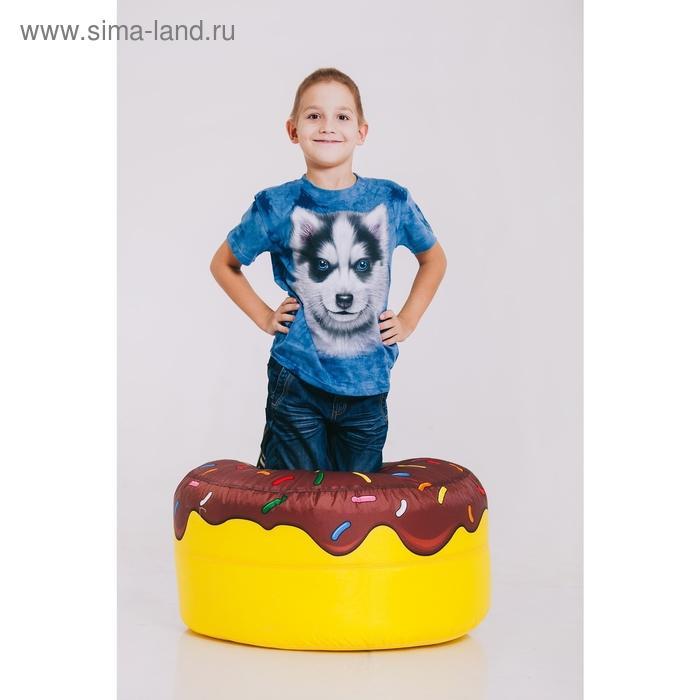 Футболка детская Collorista 3D Husky, возраст 6-8 лет, рост 122-134 см, цвет синий