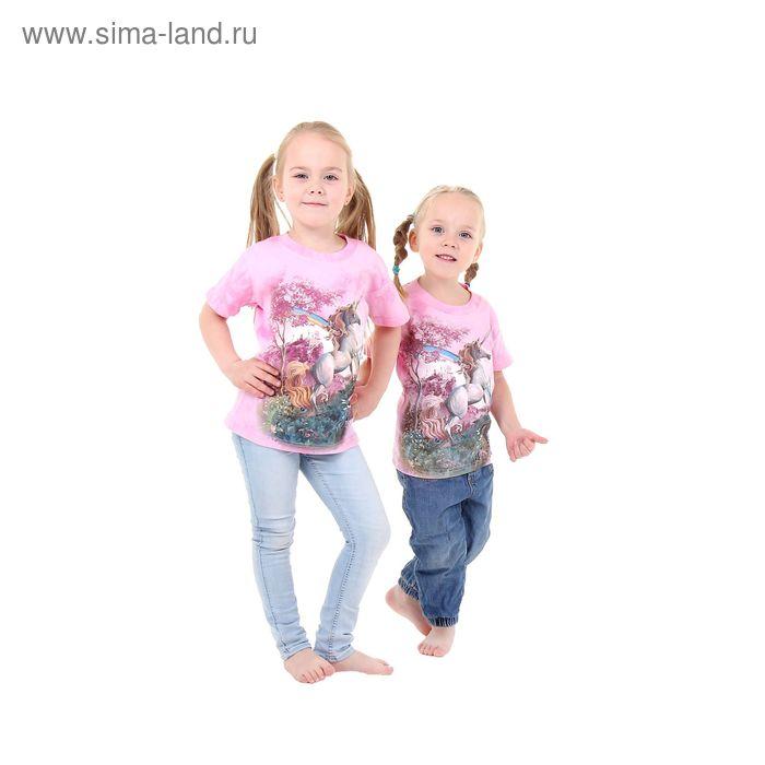 Футболка детская Collorista 3D Rainbow unicorn, возраст 2-4 года, рост 92-110 см, цвет розовый