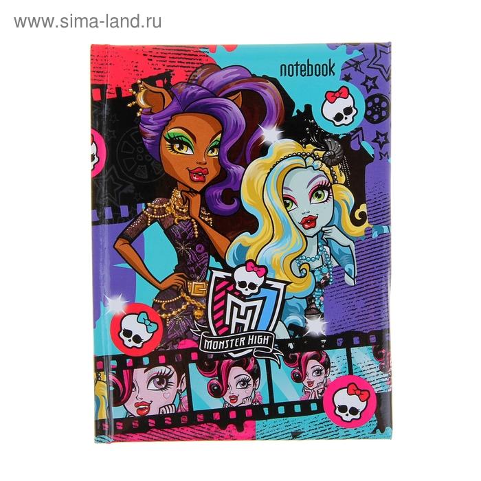 """Блокнот твердая обложка А6, 80 листов """"Школа Монстров (Monster High)"""" с поролоном"""