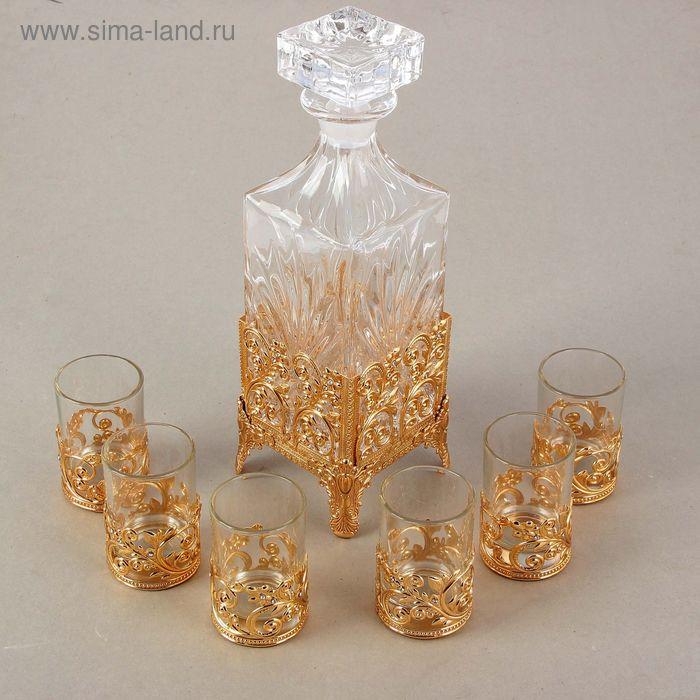 Набор :графин + 6 стаканов, графин 750ml,1 стакан 100ml