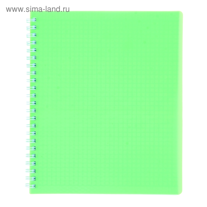 Тетрадь 80 листов клетка на гребне DIAMOND НЕОН пластиковая обложка Зеленая