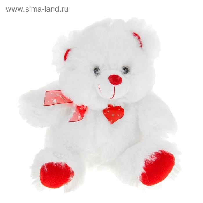 """Мягкая игрушка музыкальная """"Мишка"""" белый сердце стучит"""