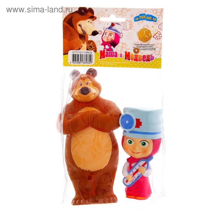 """Набор резиновых игрушек """"Маша-доктор и Медведь"""""""