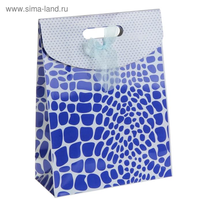 "Пакет с клапаном ""Мозаика"", цвет синий"