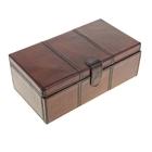 Шкатулка под бижутерию с выдвижными ящиками, обтянута кожей буйвола