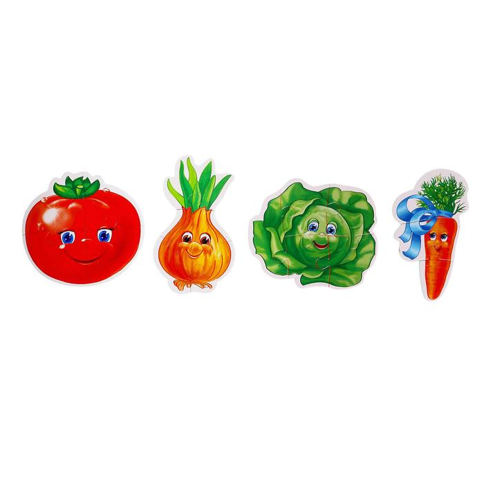 """Мягкие пазлы """"Овощи"""", 4 шт."""