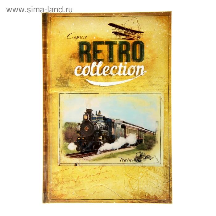 """Ежедневник """"Train. Серия Retro Collection"""" ,твёрдая обложка, А5, 96 листов"""