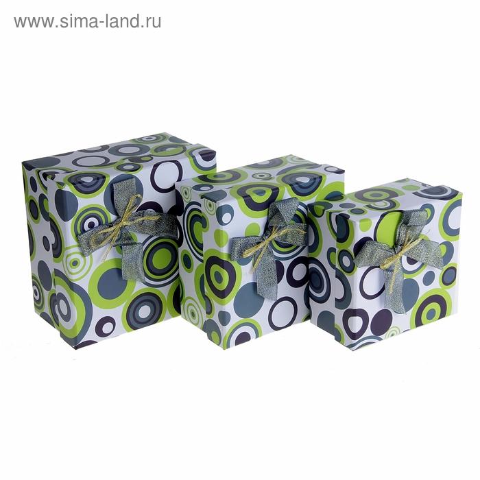 """Набор коробок 3в1 """"Моменты счастья"""", цвет тёмно-зеленый"""