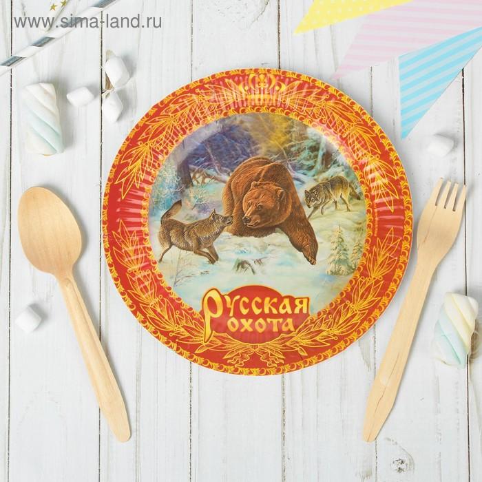 "Набор бумажных тарелок ""Русская охота"" (6 шт.), 18 см"
