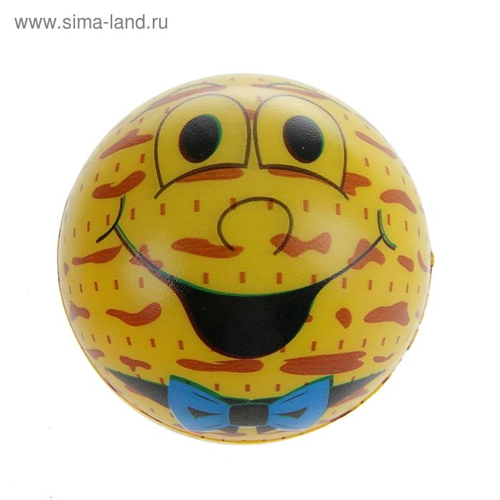 """Мягкий мяч """"Смайлики"""", 6,3 см, цвета МИКС"""