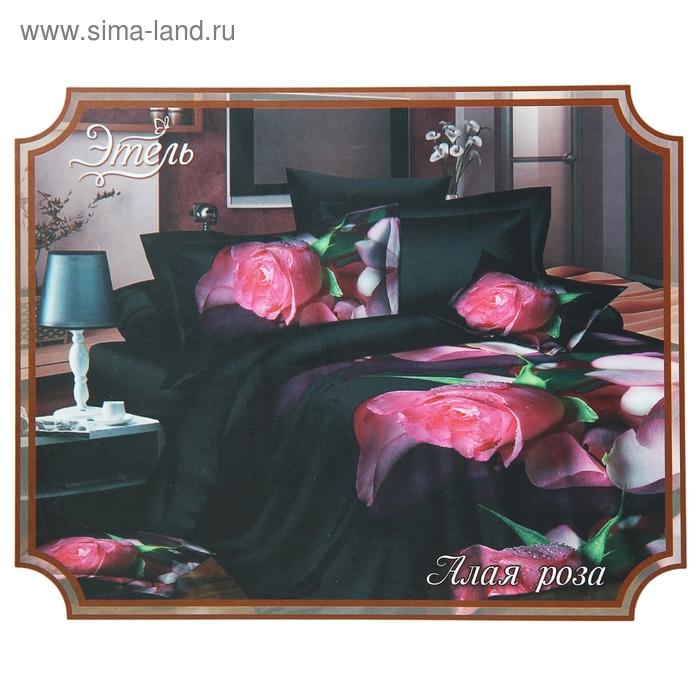 """Постельное бельё """"Этель Магнифико"""" евро Алая роза 200*220 см, 230*240 см, 50*70 + 5 см - 2 шт."""