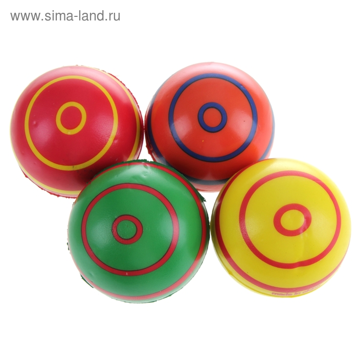 "Мягкий мяч ""Полосатики"", 7,6 см, цвета МИКС"