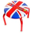 Табурет детский с пищалкой «Я люблю Лондон», мягкое сиденье 27х27 см, высота до сиденья 23 см