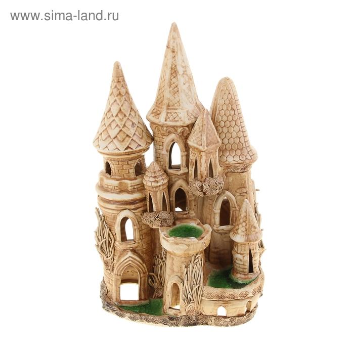 """Декорации для аквариума """"Замок"""" зелёная площадка, микс"""