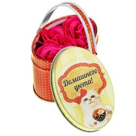 """Набор мыльные лепестки 3 шт в малой корзиночке """"Домашнего уюта"""""""