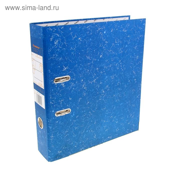"""Папка-регистратор А4, 80мм TIRALANA """"Морская глубина"""" эконом, синяя, c уголками"""