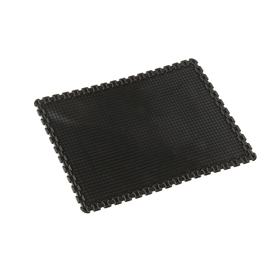 Коврик противоскользящий, пиксели 20х13, черный